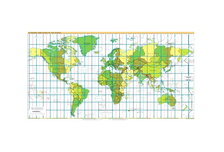 Cia   World Factbook   Reference Map   Time Zones