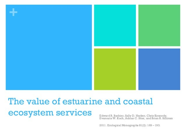 Discussion on the value of estuarine and coastal ecosystem services