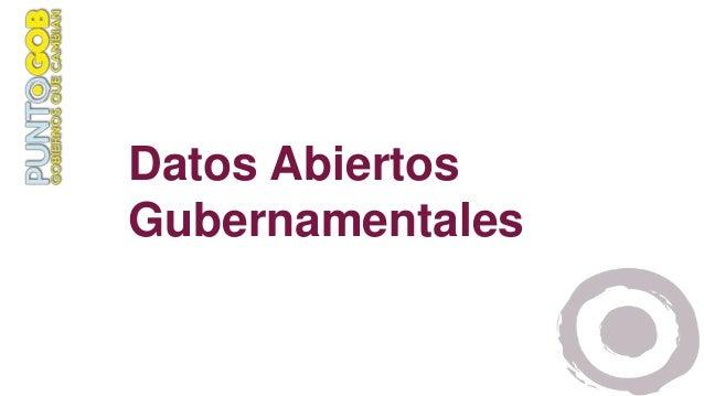 Datos Abiertos Gubernamentales