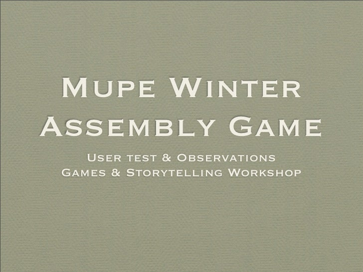Ciaran and Laila's Play Testing of MUPE