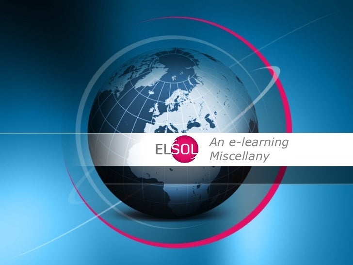 An e-learningMiscellany
