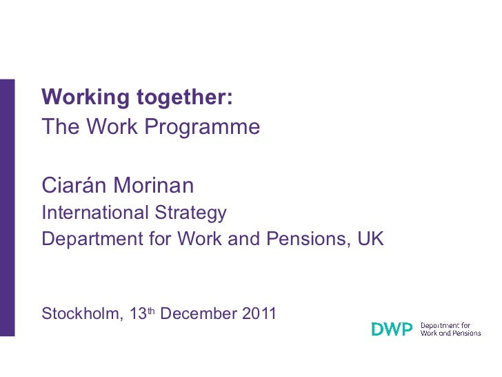 Working together: The Work Programme