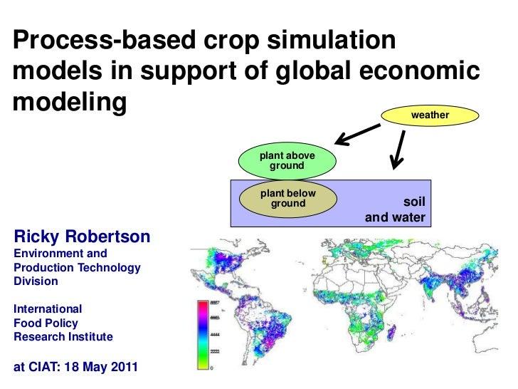 Process-based crop simulation models in support of global economic modeling<br />weather<br />plant above ground<br />soil...