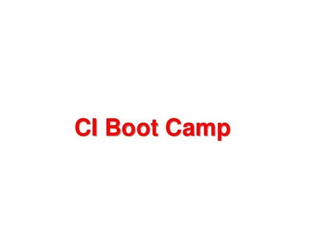 CI Boot Camp
