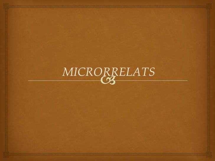 MICRORRELATS