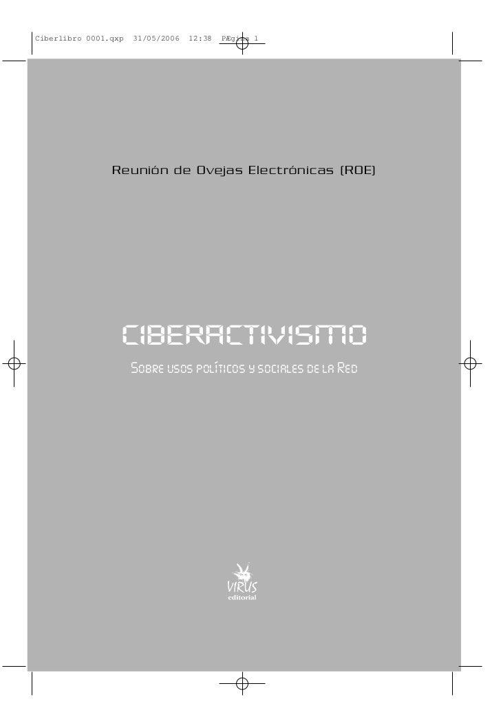 Ciberlibro 0001.qxp   31/05/2006   12:38   PÆgina 1                Reunión de Ovejas Electrónicas (ROE)                  C...