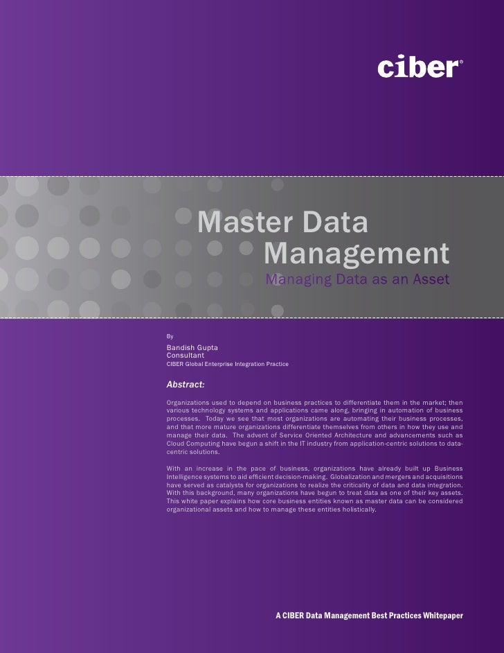 Ciber Master Data Management