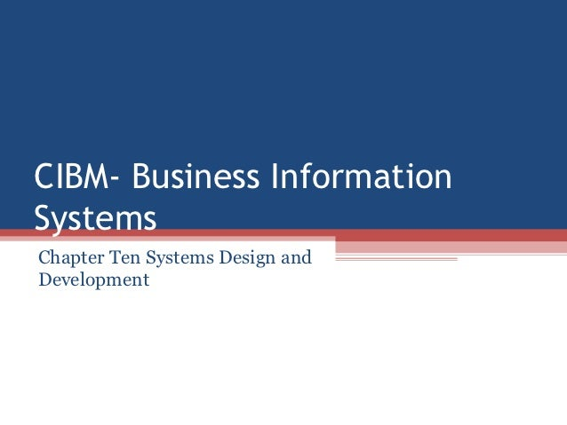 Cibm  workshop2 chapter ten
