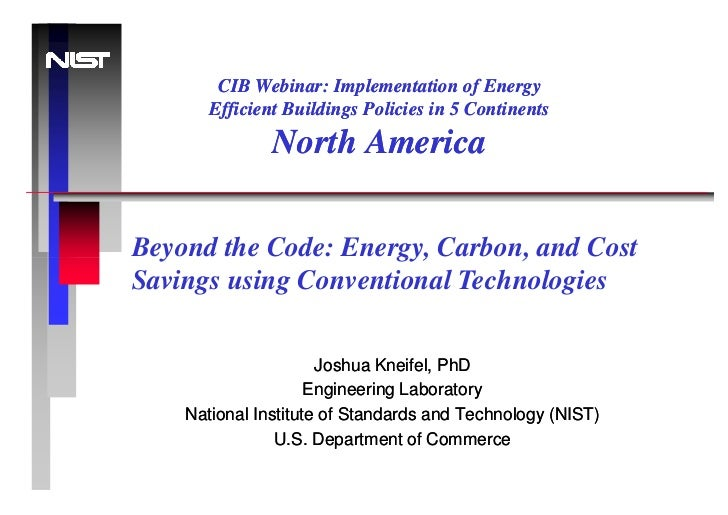 CIB Webinar: Implementation of Energy       Efficient Buildings Policies in 5 Continents               North AmericaBeyond...