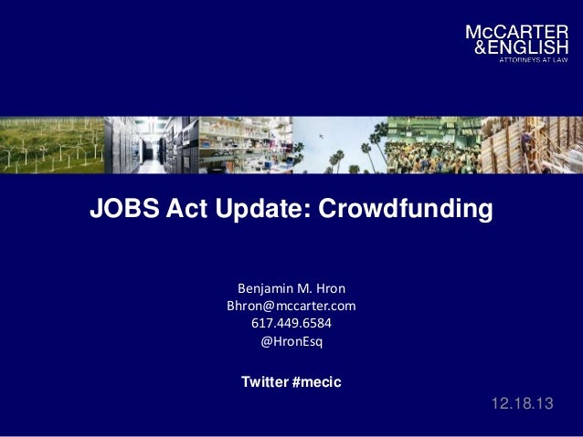 JOBS Act: Proposed Rules for Crowdfunding