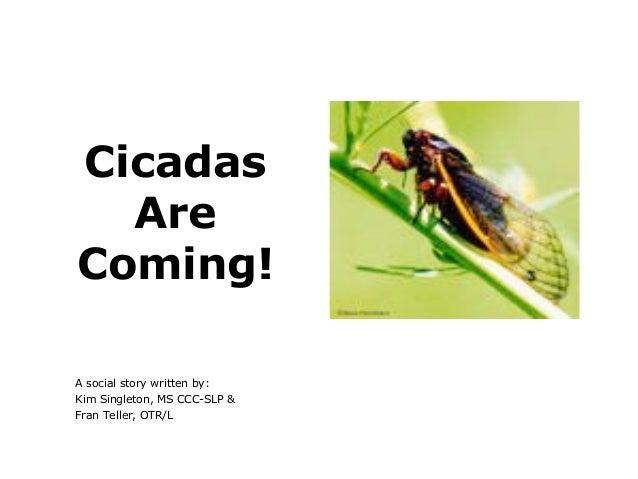 CicadasAreComing!A social story written by:Kim Singleton, MS CCC-SLP &Fran Teller, OTR/L