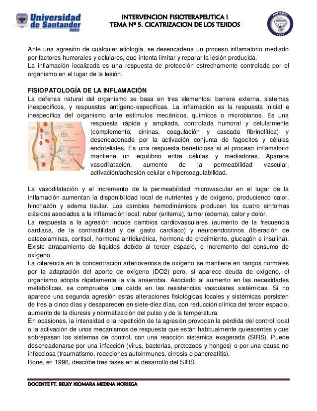DOCENTE FT. BELKY XIOMARA MEDINA NORIEGA Ante una agresión de cualquier etiología, se desencadena un proceso inflamatorio ...