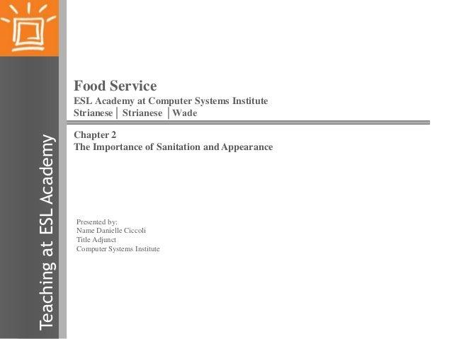 Ciccoli food service chapter 2