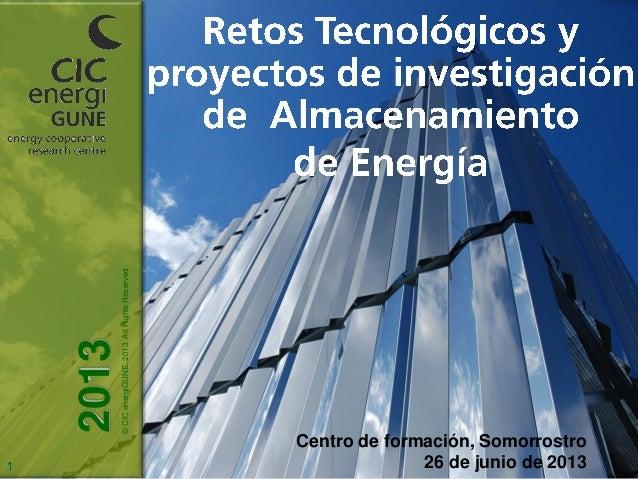 Retos tecnológicos y proyectos de investigación en almacenamiento de energía