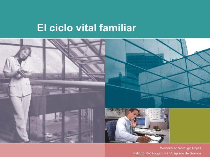 El ciclo vital familiar Wenceslao Verdugo Rojas Instituto Pedagógico de Posgrado de Sonora