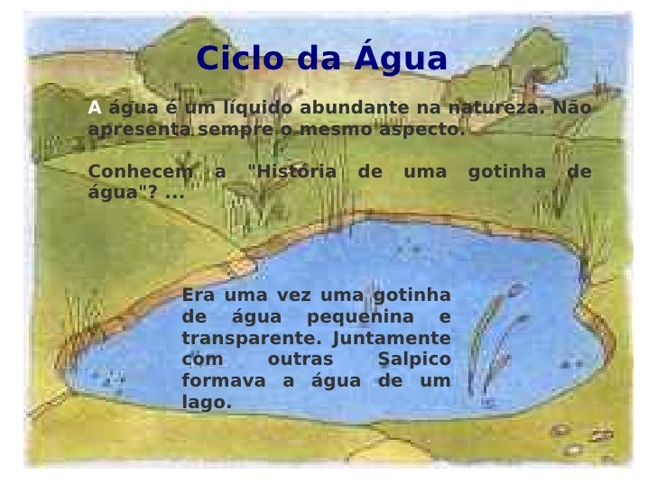 AQUECIMENTO GLOBAL Ciclo da Água A  água é um líquido abundante na natureza. Não apresenta sempre o mesmo aspecto. Conhece...
