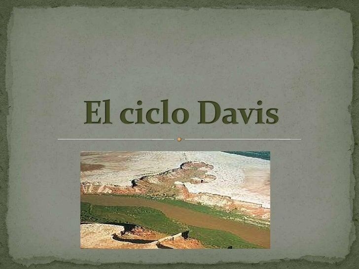  Es el primer modelo de evolución del paisaje de amplia  aceptación. Influenciado por Lyell y Darwin, fundamentó su  teo...