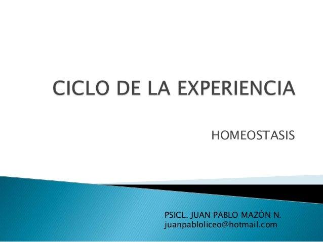 Ciclo de Experiencia - GESTALT
