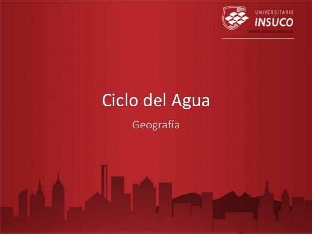 Ciclo del Agua Geografía