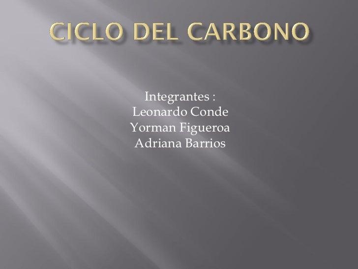 Integrantes :Leonardo CondeYorman Figueroa Adriana Barrios