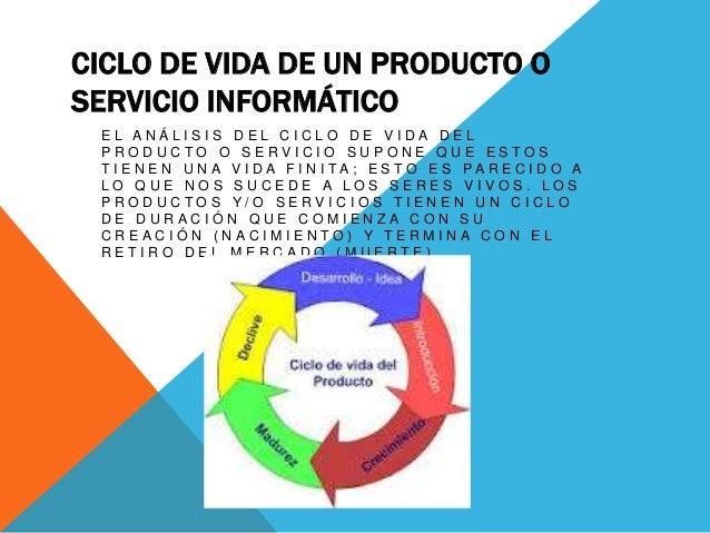 CICLO DE VIDA DE UN PRODUCTO OSERVICIO INFORMÁTICOE L A N Á L I S I ...