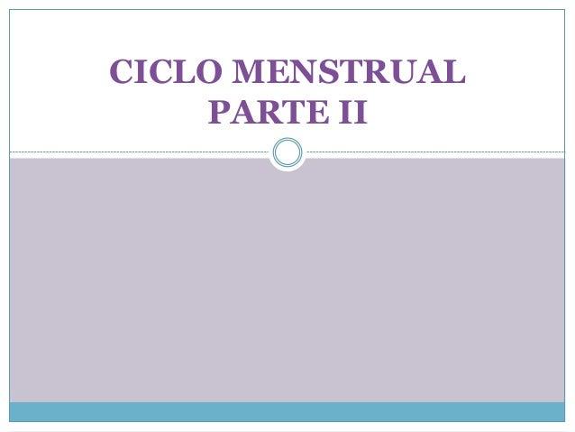 CICLO MENSTRUAL PARTE II