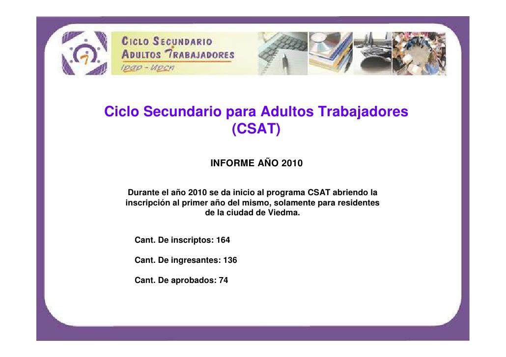 Ciclo secundario informe2010