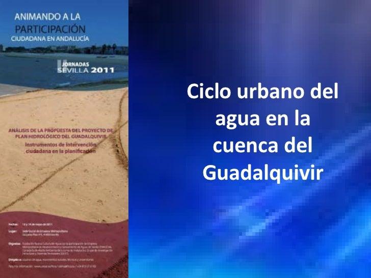 Ciclo urbano del   agua en la   cuenca del  Guadalquivir