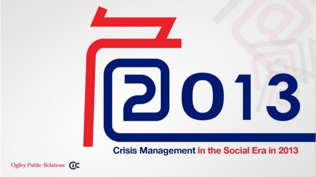 "CIC & Ogilvy PR China released the latest whitepaper ""2013 Crisis Management in the Social Era"""