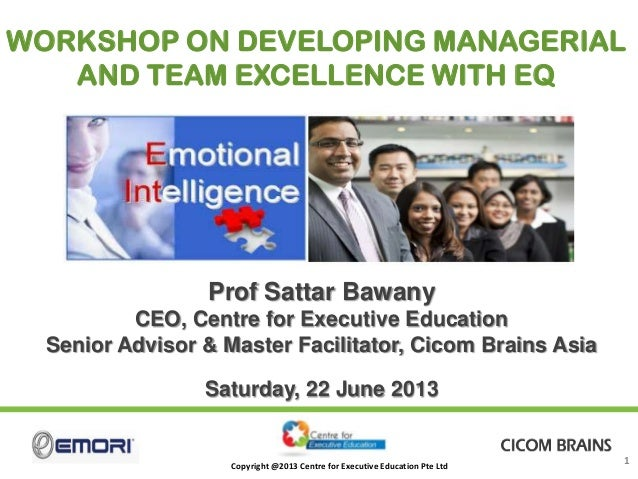 CEE Masterclass on Developing Managerial & Team Excellence