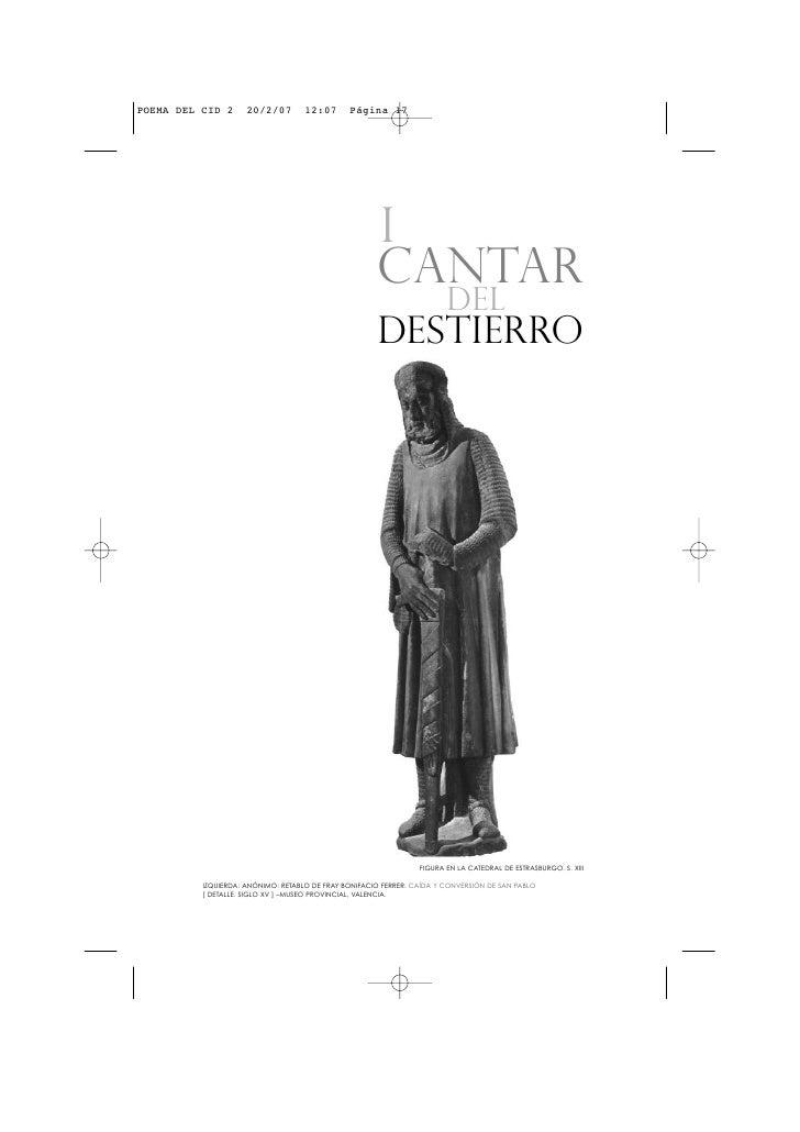 Cid  I Fragmento  Cantar Del  Destierro