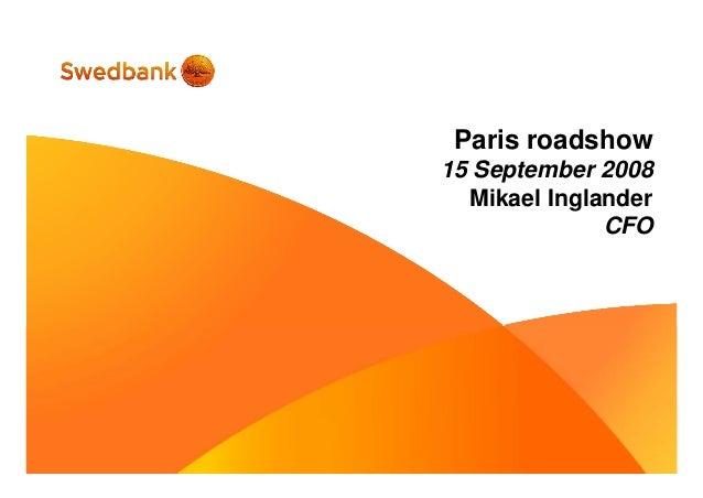 Roadshow, Paris, Mikael Inglander