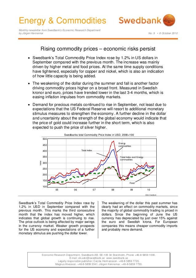 Energy & Commodities - 2010 - October