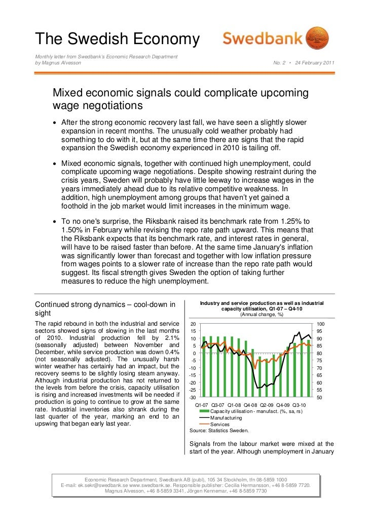 The Swedish Economy, No. 2, 24 February 2011