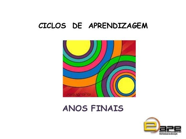 CICLOS DE APRENDIZAGEMANOS FINAIS