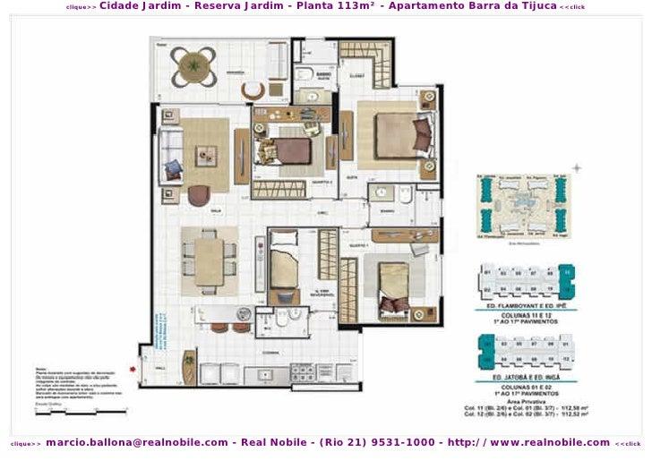 plantas reserva jardim:cidade jardim reserva jardim planta 113m² apartamento barra da tijuca