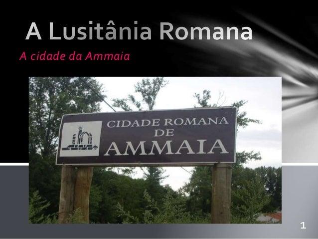 A cidade da Ammaia  1
