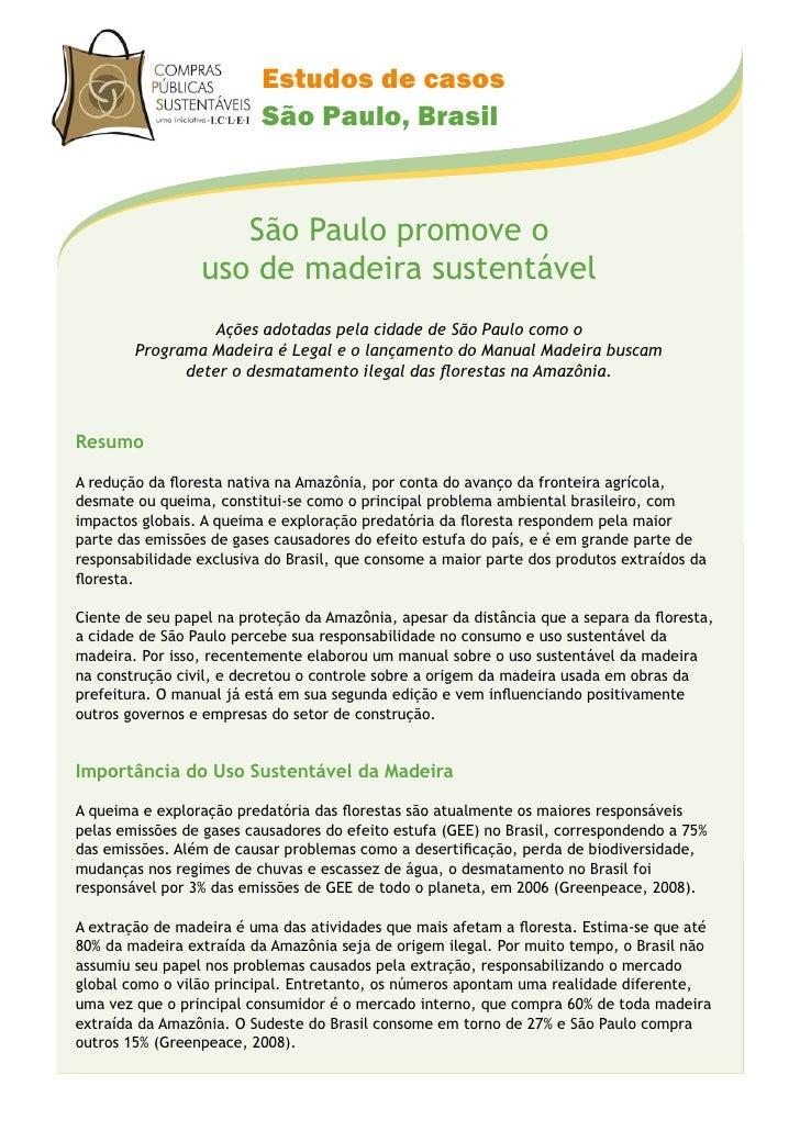 Estudos de casos                           São Paulo, Brasil                       São Paulo promove o                  us...