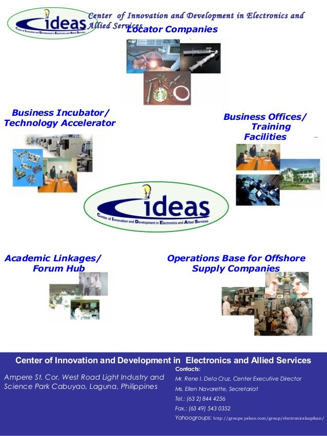 Center of Innovation and Development in Electronics and Allied Services Business Offices/ Training Facilities Locator Comp...