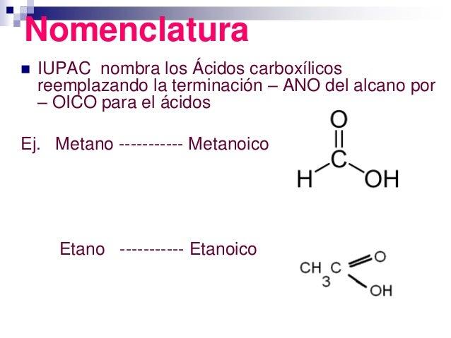 Formula de Los Acidos Carboxilicos Los ácidos Carboxílicos