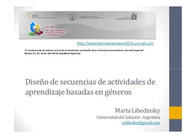 """http://www.iberoamericano2014.unr.edu.ar/ """"La construcción de saberes acerca de la enseñanza: un desafío para la docencia ..."""