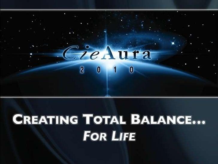 Creating Total Balance…<br />For Life<br />