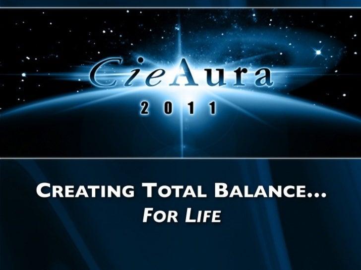 CREATING TOTAL BALANCE… FOR  LIFE
