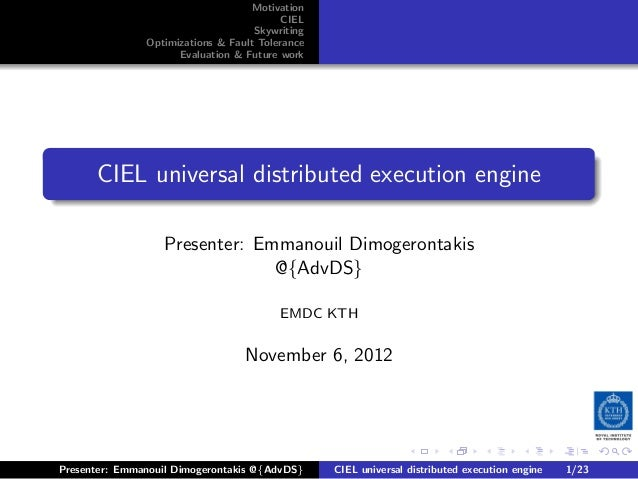Ciel universal distributed execution engine