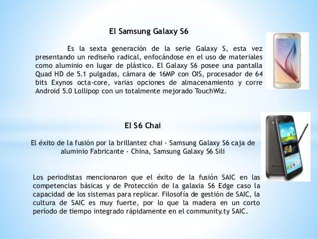 El Samsung Galaxy S6 Es la sexta generación de la serie Galaxy S, esta vez presentando un rediseño radical, enfocándose en...