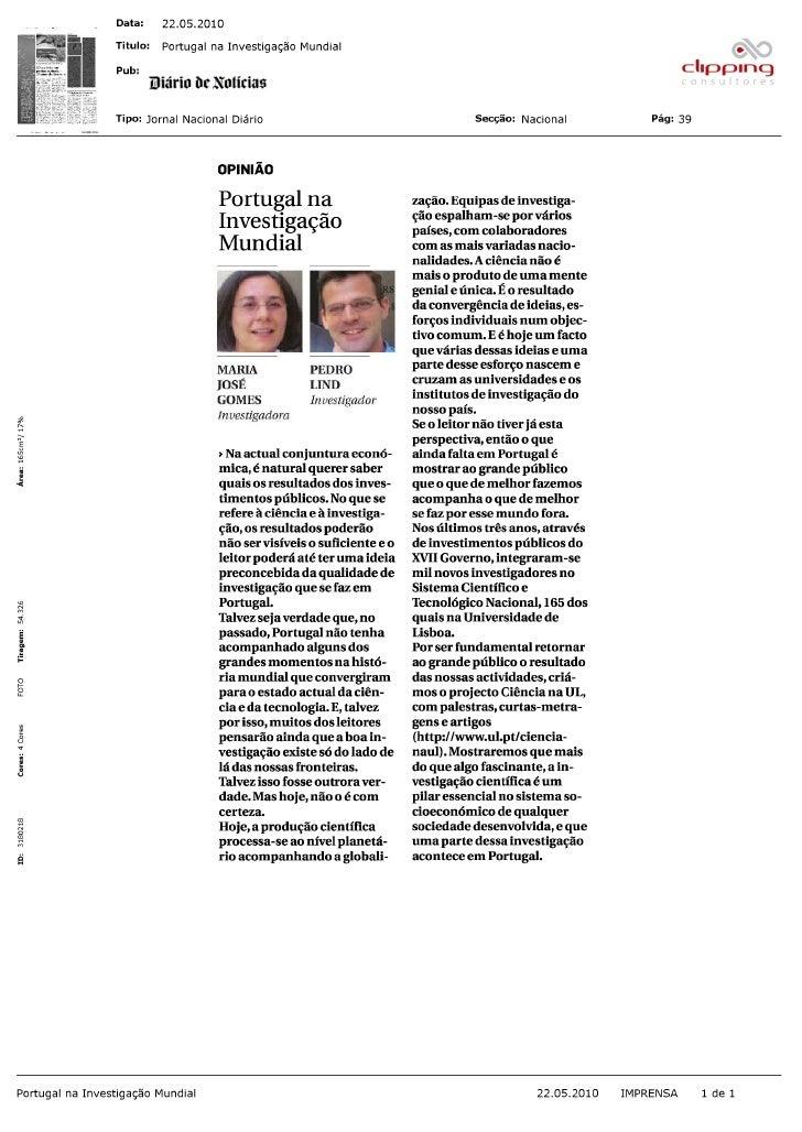 Artigo de opinião assinado por Maria José Gomes e  Pedro Lind