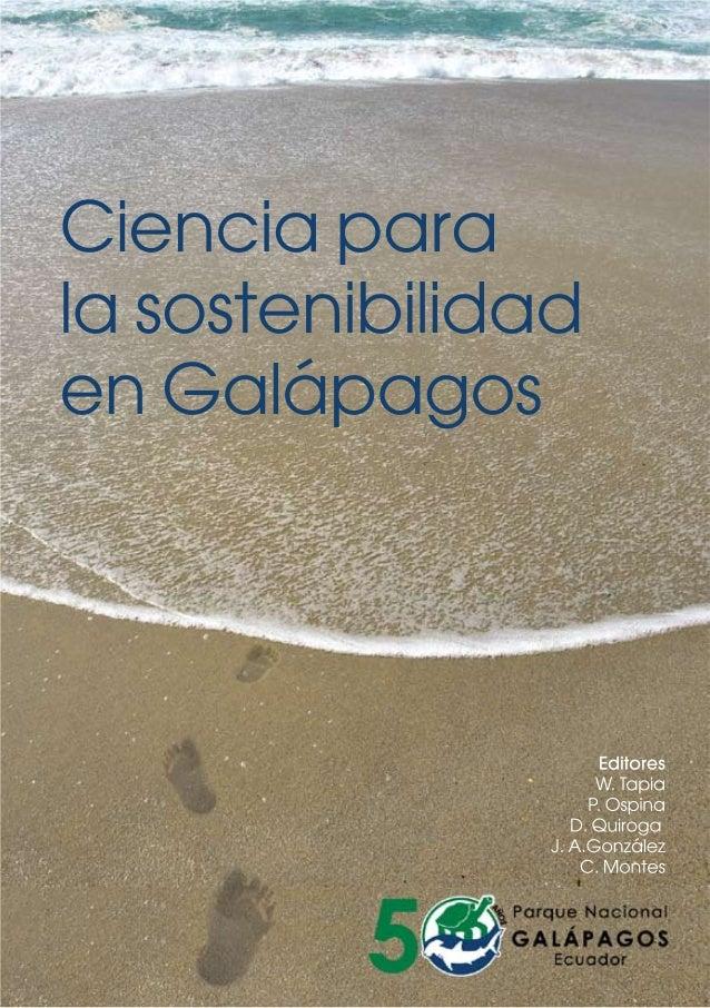 Ciencia para la sostenibilidad en Galápagos: el papel de la investigación científica y tecnológica en el pasado, presente ...