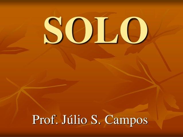 SOLO Prof. Júlio S. Campos