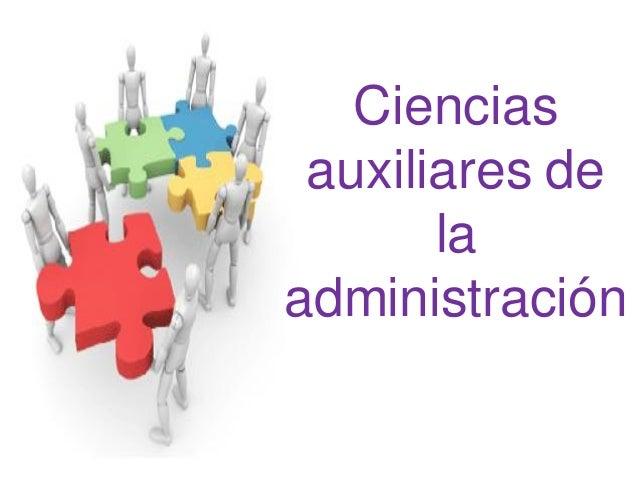 Ciencias auxiliares de la administración