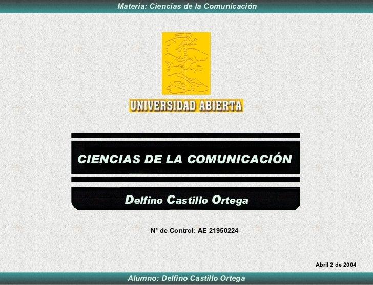 Ciencias ComunicacióN